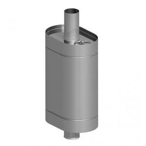 Бак овальный 80 л на трубе ф115 мм