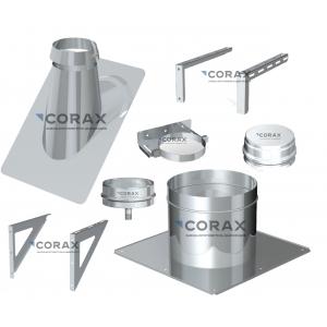 Комплектующие дымохода Corax