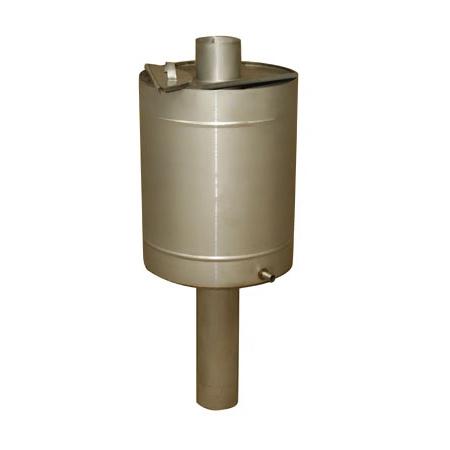 Бак на трубе круглый 57 литров