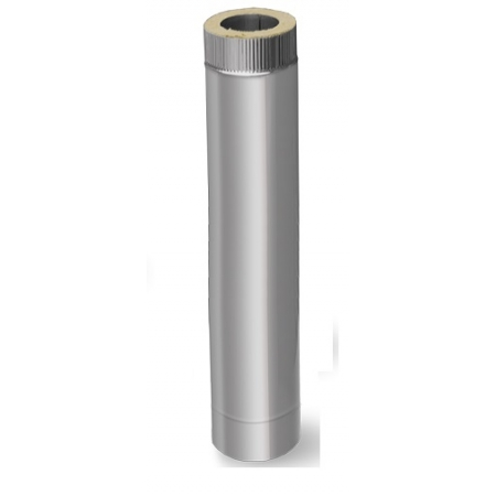 Сэндвич труба ф115х200 L=1,0 (нерж.0,5мм+оцинк.)