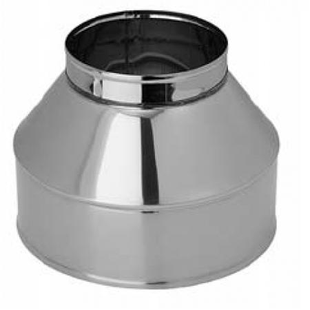 Конус на дымоход ф180х280 (нерж.0,5мм+нерж.)