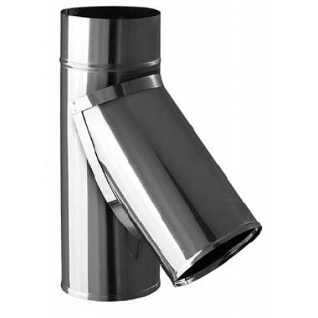 Тройник нержавейка ф120 мм угол 45 (0,8/430)