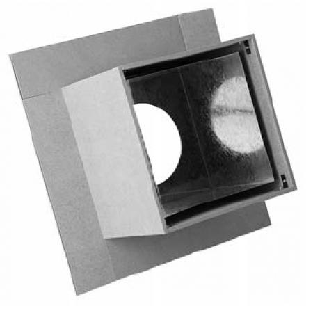 Проходной узел дымохода с минеритом ф250 (нерж.0,5мм+оцинк.)