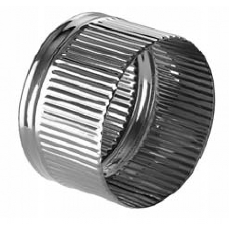 Заглушка дымохода внутренняя ф120 (нерж.0,5мм)